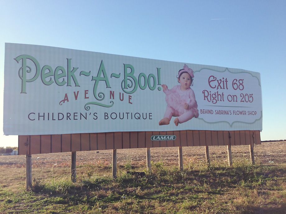 Peek-A-Boo Avenue Billboard
