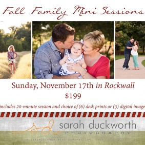 Fall Family Pictures Rockwall TX