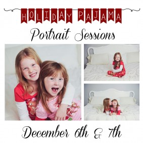 Holiday Pajama Portrait Sessions